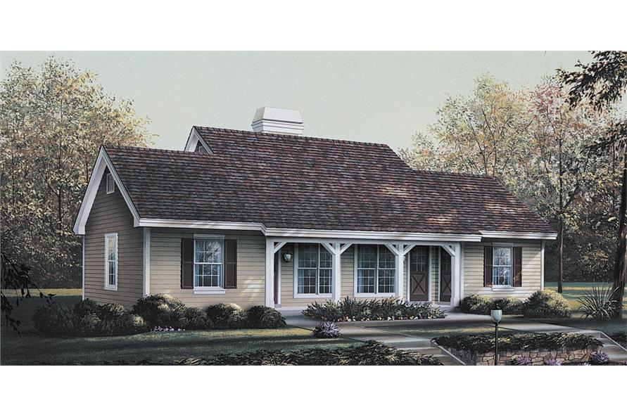 Front elevation of Multi-Unit home (ThePlanCollection: House Plan #138-1121)