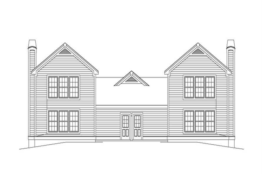 Home Plan Rear Elevation of this 2-Bedroom,2408 Sq Ft Plan -138-1122
