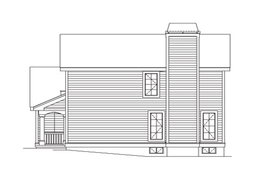 Home Plan Right Elevation of this 2-Bedroom,2408 Sq Ft Plan -138-1122