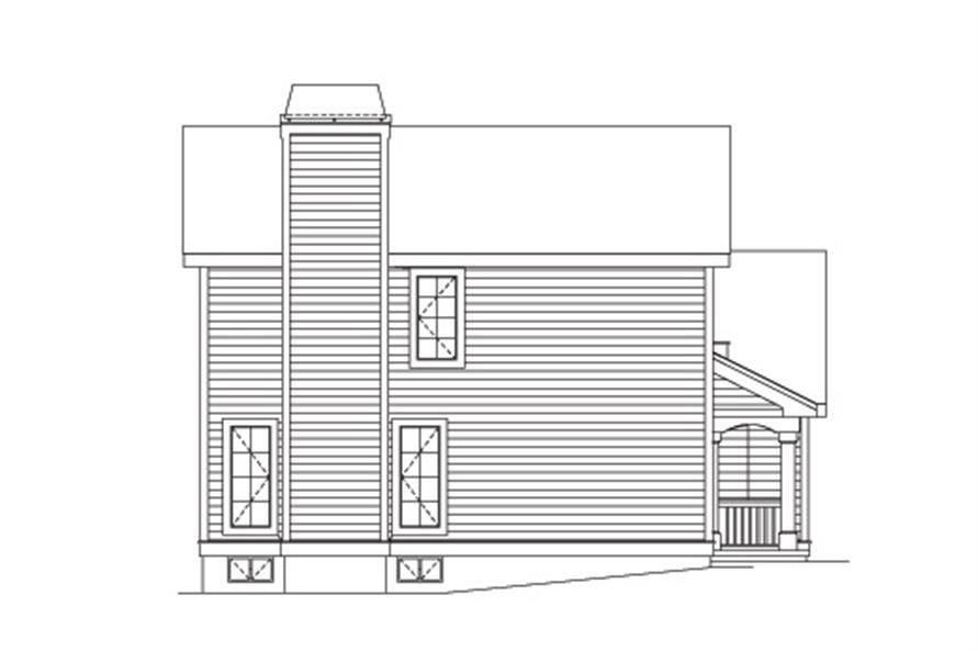 138-1122: Home Plan Left Elevation