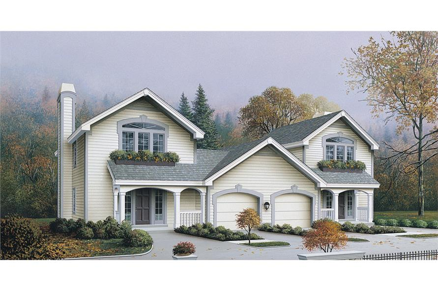 2-Bedroom, 2408 Sq Ft Multi-Unit Home Plan - 138-1122 - Main Exterior