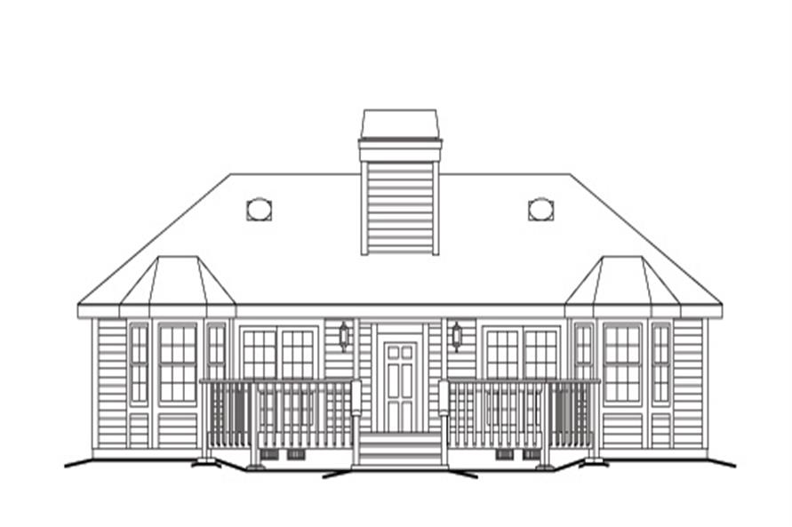 138-1123: Home Plan Rear Elevation