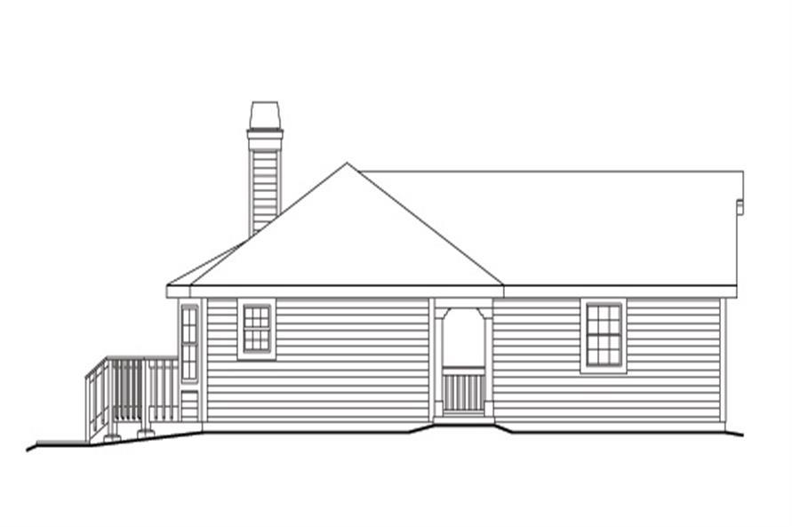 138-1123: Home Plan Left Elevation