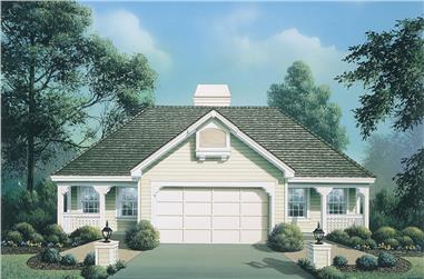 Front elevation of Multi-Unit home (ThePlanCollection: House Plan #138-1123)