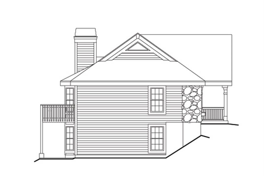 Home Plan Left Elevation of this 6-Bedroom,2986 Sq Ft Plan -138-1124