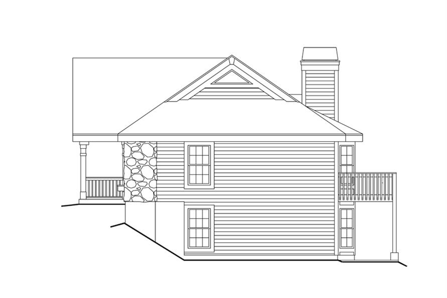 Home Plan Right Elevation of this 6-Bedroom,2986 Sq Ft Plan -138-1124