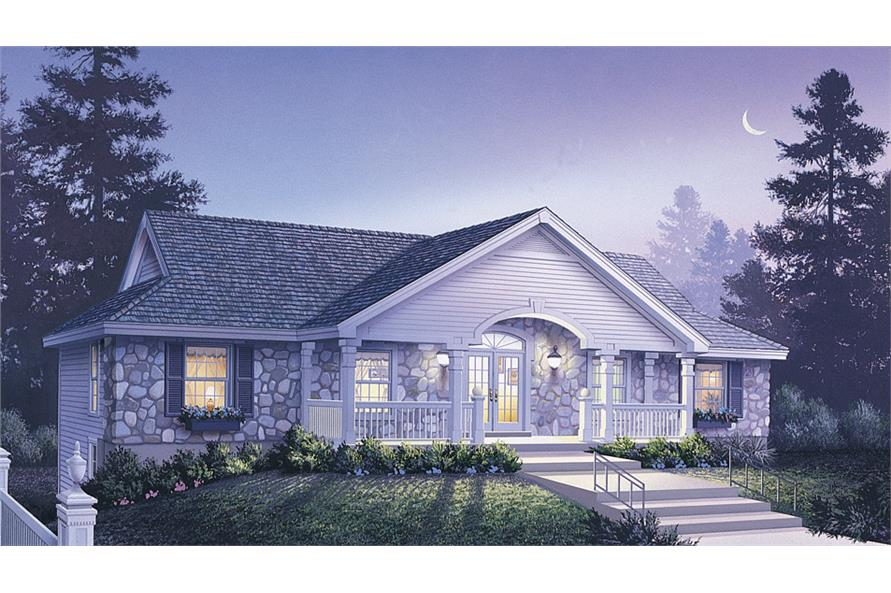 Front elevation of Multi-Unit home (ThePlanCollection: House Plan #138-1124)