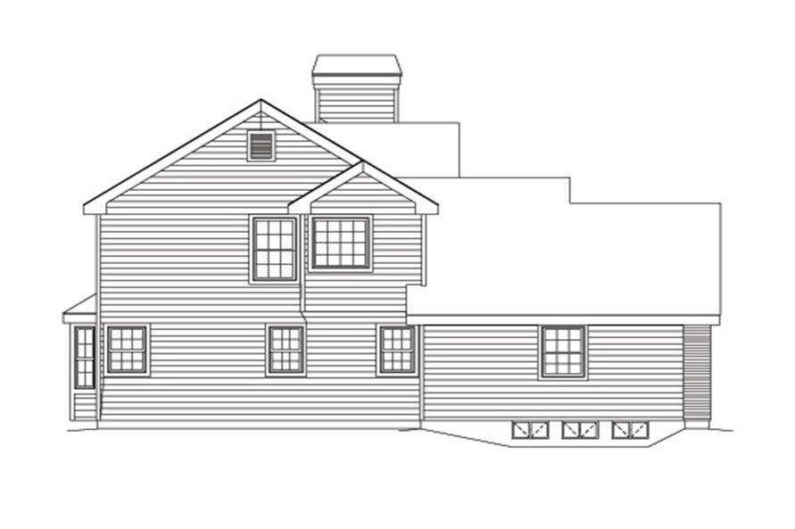 Home Plan Left Elevation of this 3-Bedroom,3258 Sq Ft Plan -138-1125