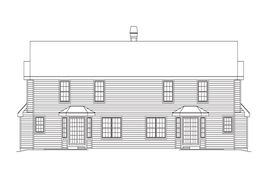 138-1125: Home Plan Rear Elevation