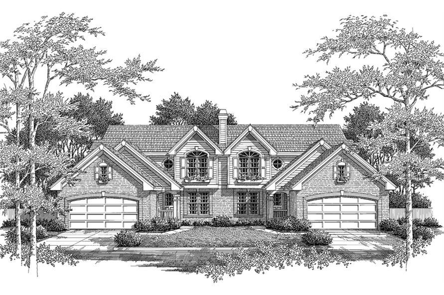 Home Plan Rendering of this 3-Bedroom,3258 Sq Ft Plan -3258