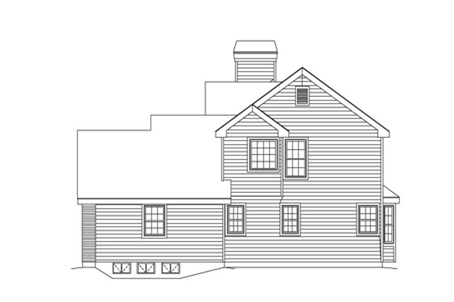 Home Plan Right Elevation of this 3-Bedroom,3258 Sq Ft Plan -138-1125