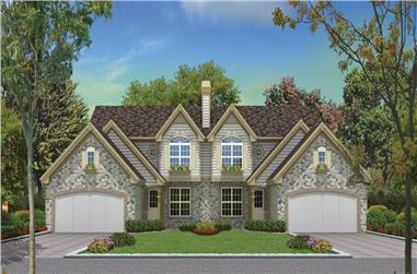 Front elevation of Multi-Unit home (ThePlanCollection: House Plan #138-1125)