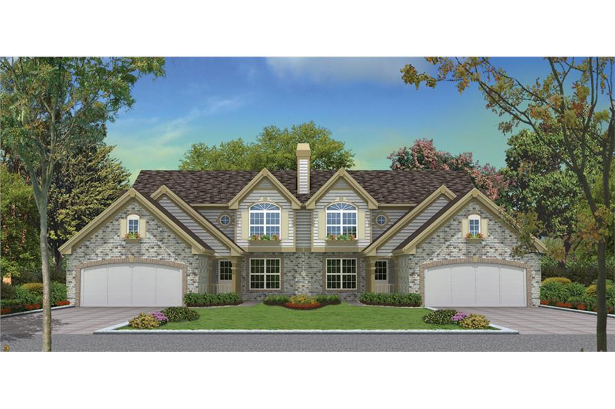 3-Bedroom, 3258 Sq Ft Multi-Unit House Plan - 138-1125 - Front Exterior