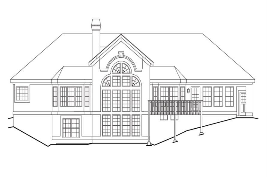 138-1126: Home Plan Rear Elevation
