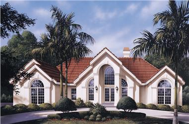 Front elevation of Ranch home (ThePlanCollection: House Plan #138-1126)