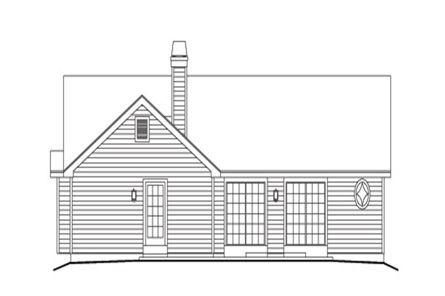 138-1127: Home Plan Rear Elevation