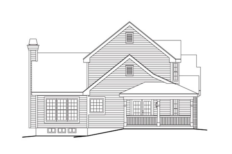 138-1128: Home Plan Left Elevation