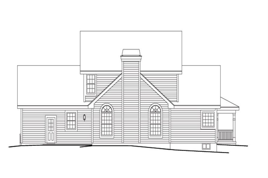 138-1128: Home Plan Rear Elevation