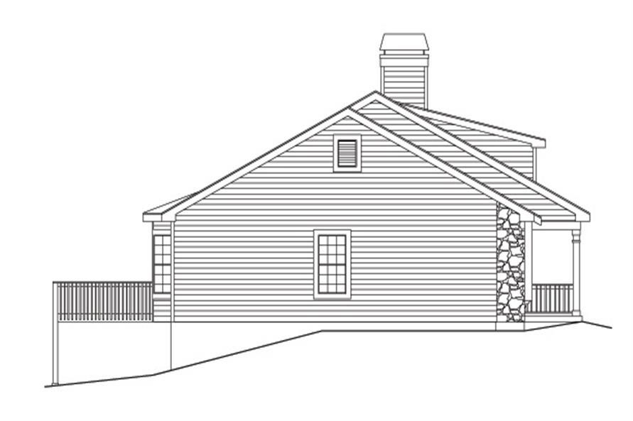 138-1129: Home Plan Left Elevation