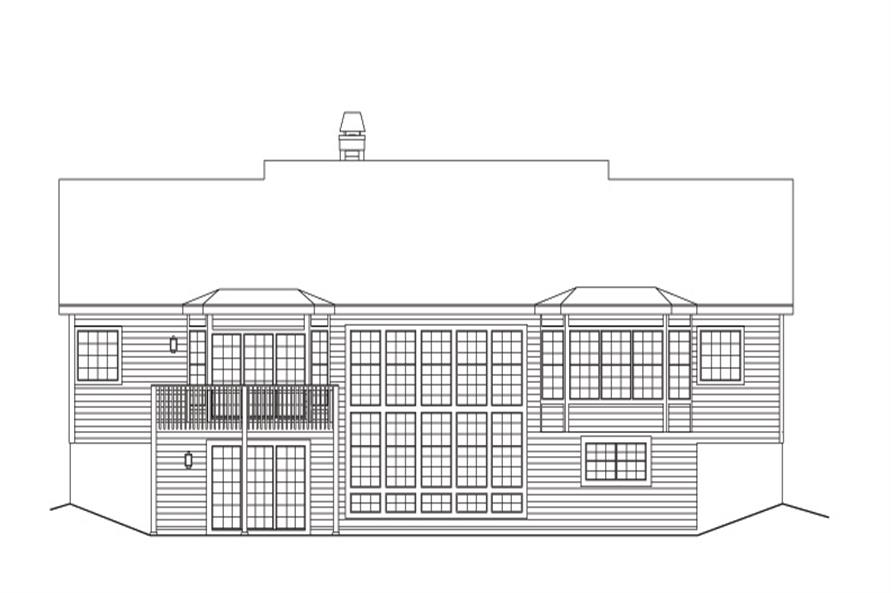 138-1129: Home Plan Rear Elevation