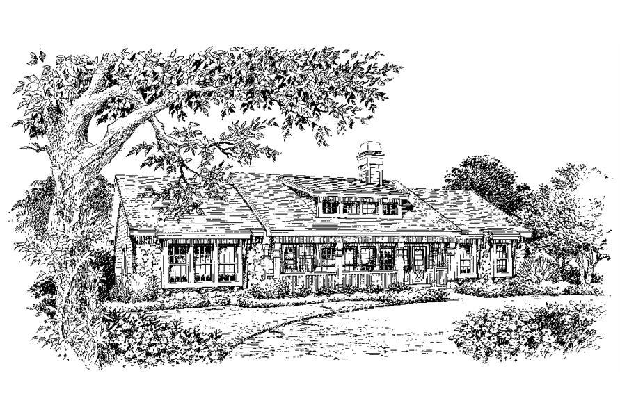138-1129: Home Plan Rendering
