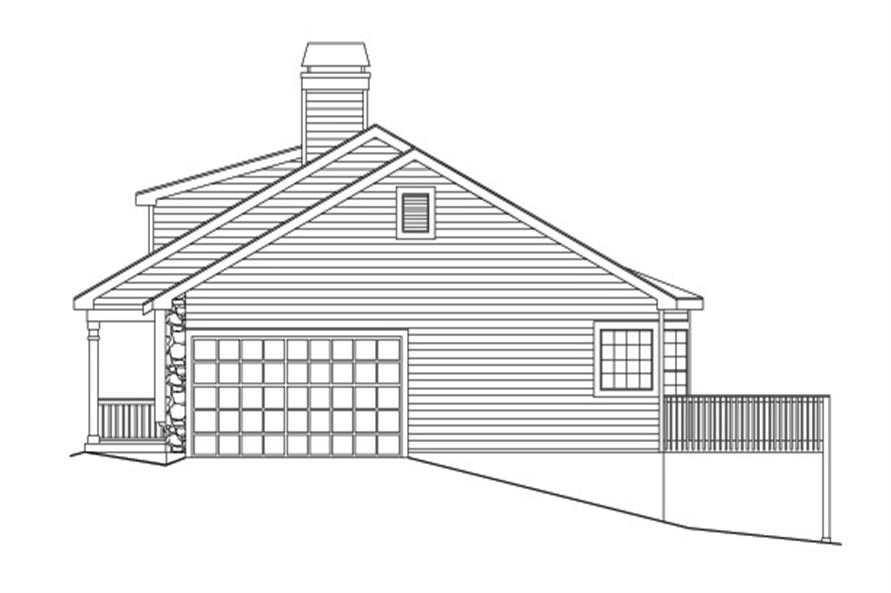138-1129: Home Plan Right Elevation