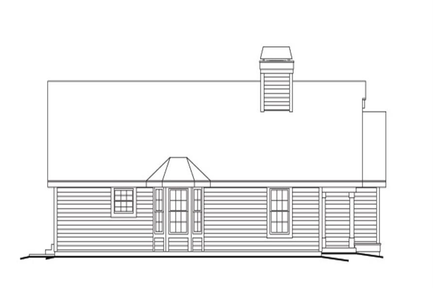 138-1130: Home Plan Left Elevation