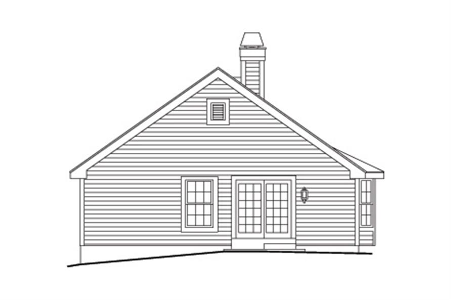 138-1130: Home Plan Rear Elevation