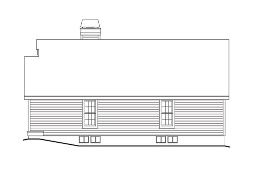 138-1130: Home Plan Right Elevation