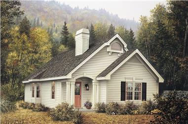 4-Bedroom, 1452 Sq Ft Country House Plan - 138-1130 - Front Exterior