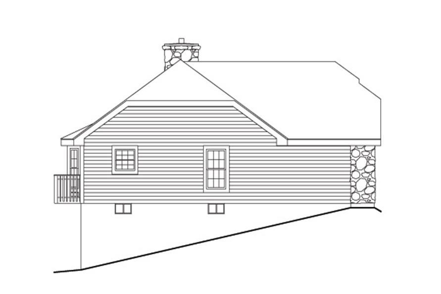 138-1131: Home Plan Left Elevation