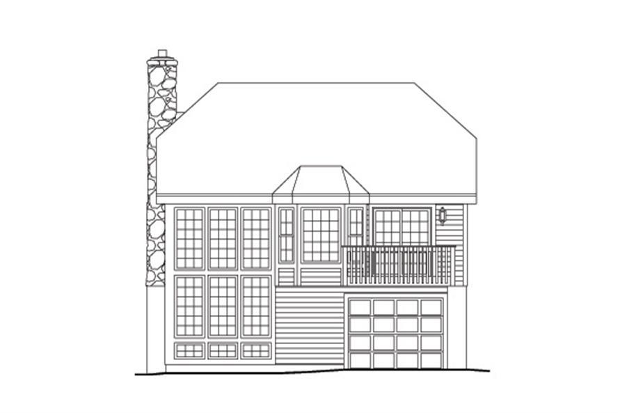 138-1131: Home Plan Rear Elevation