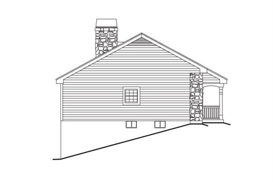 138-1132: Home Plan Left Elevation