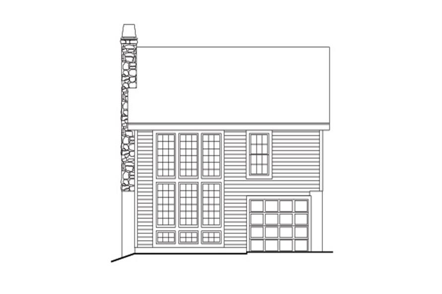 138-1132: Home Plan Rear Elevation