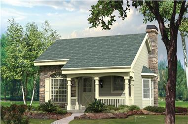 2-Bedroom, 1207 Sq Ft Cottage Home Plan - 138-1132 - Main Exterior