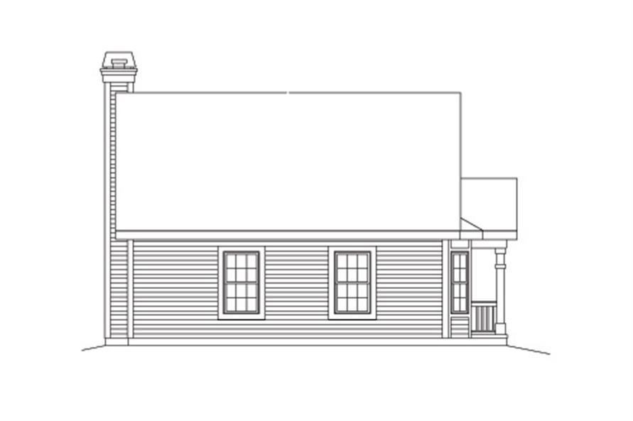 138-1133: Home Plan Rear Elevation