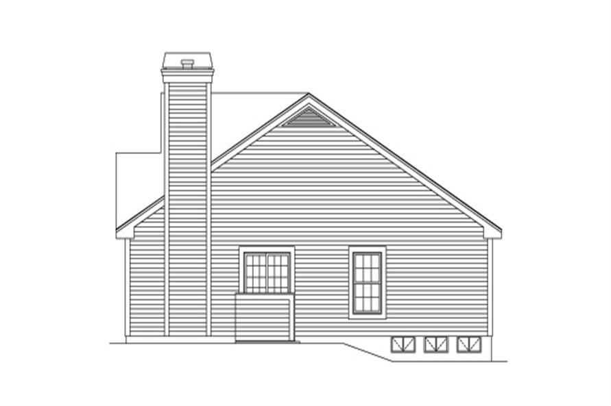 138-1133: Home Plan Right Elevation