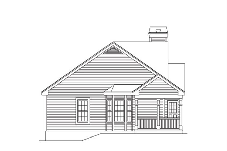 138-1133: Home Plan Left Elevation