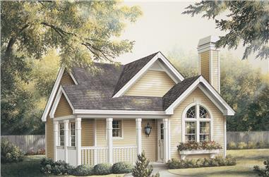 2-Bedroom, 1084 Sq Ft Cottage Home Plan - 138-1133 - Main Exterior
