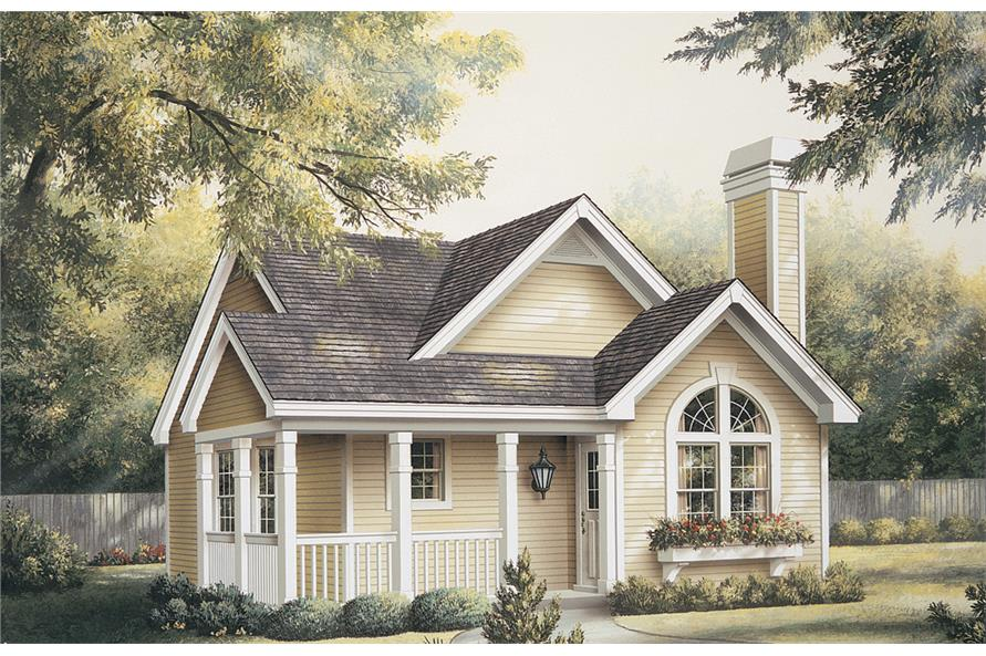 Front elevation of Cottage home (ThePlanCollection: House Plan #138-1133)