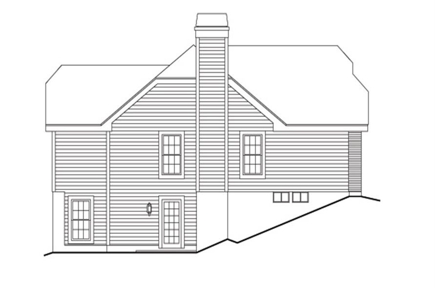 138-1134: Home Plan Left Elevation