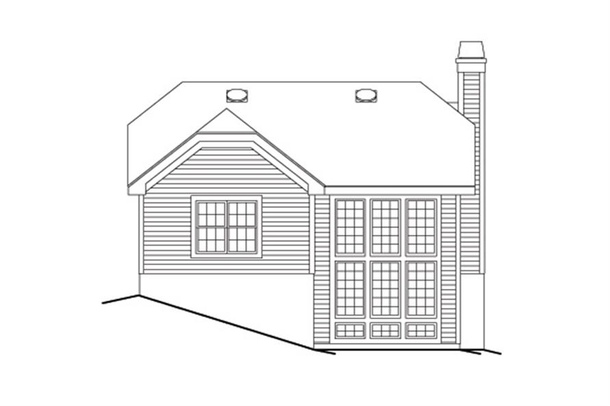 138-1134: Home Plan Rear Elevation