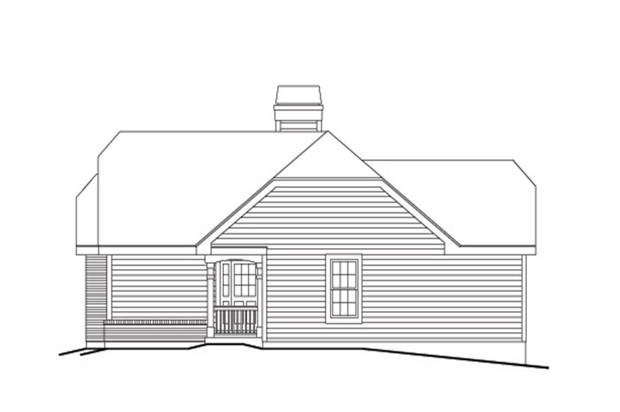 138-1134: Home Plan Right Elevation