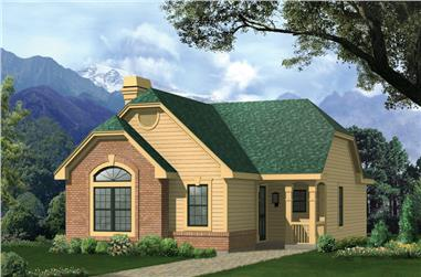 2-Bedroom, 1469 Sq Ft Cottage Home - Plan #138-1134 - Main Exterior