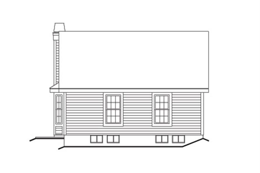 138-1135: Home Plan Rear Elevation