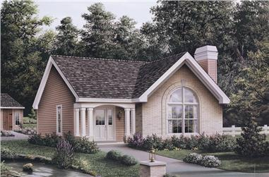 3-Bedroom, 1161 Sq Ft Cottage Home Plan - 138-1135 - Main Exterior