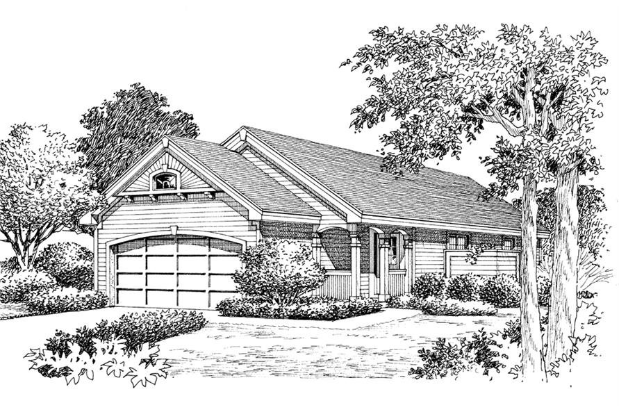 138-1136: Home Plan Rendering