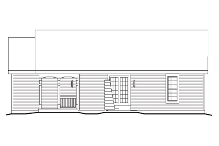 138-1136: Home Plan Right Elevation