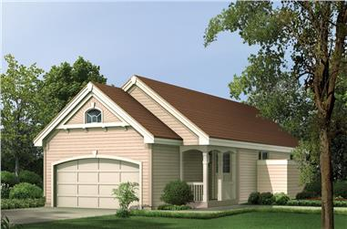 Front elevation of Ranch home (ThePlanCollection: House Plan #138-1136)