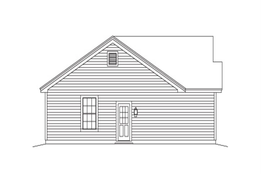 138-1137: Home Plan Left Elevation